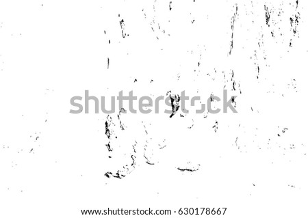 Grunge Black And White Urban Vector Texture Template. Dark Messy Dust Overlay Distress Background. Easy To Create Abstract Dotted, Scratched, Vintage Effect With Noise And Grain. Aging Design Element #630178667