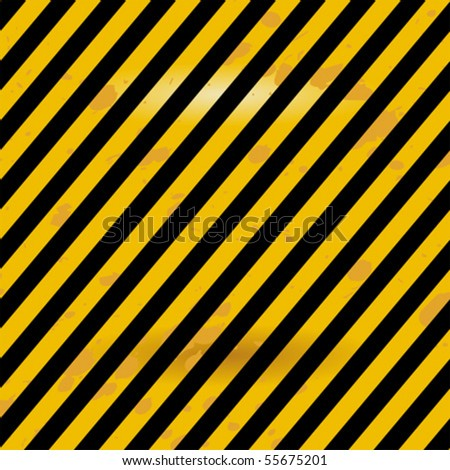 Grunge black and yellow Industrial warning surface