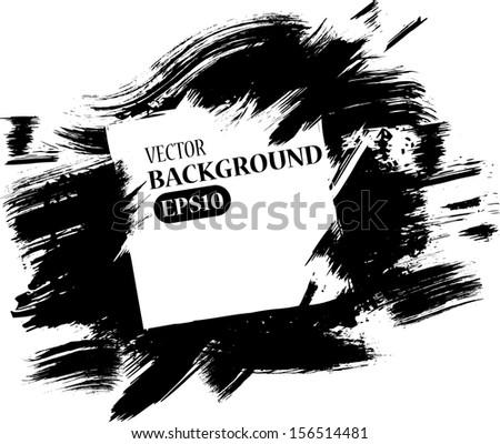 grunge black brush splash with