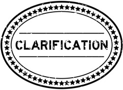 Grunge black clarification word oval rubber seal stamp on white background