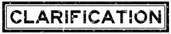 Grunge black clarification word square rubber seal stamp on white background