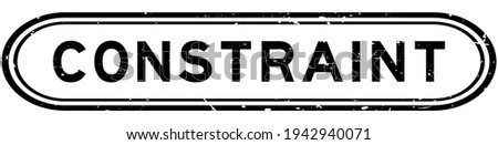 Grunge black constraint word rubber seal stamp on white background Stock photo ©