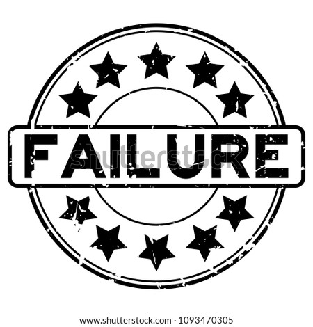 grunge black failure word with