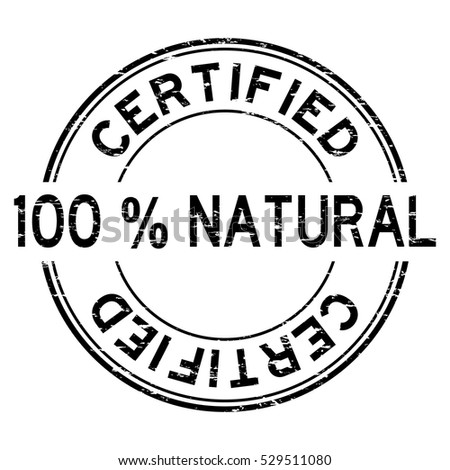 Grunge black 100 % natural certified round rubber stamp