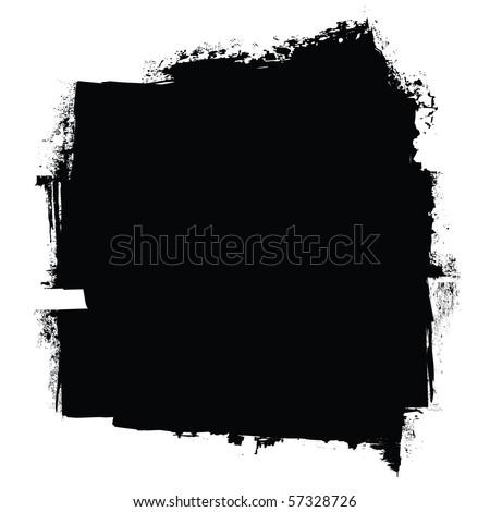 grunge black roller marks with ink effect background