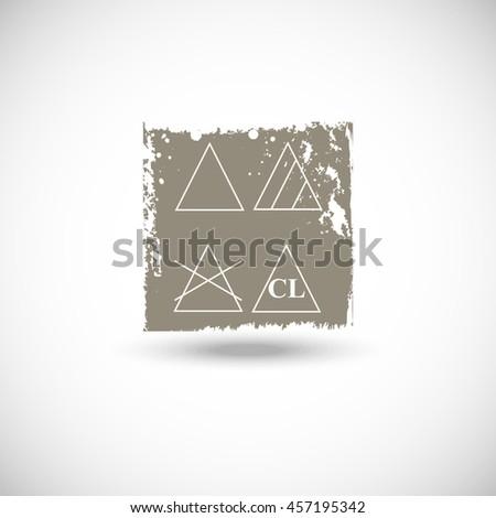 grunge bleaching symbol icon