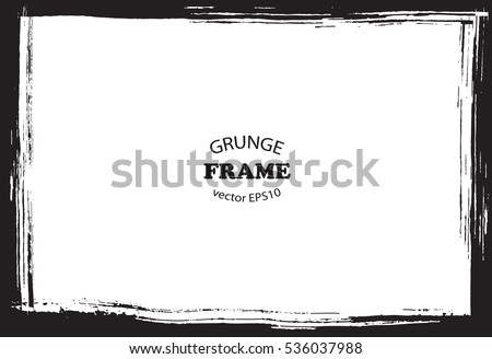 Grunge border frame.Vector distress frame.