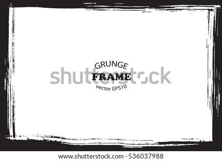 Grunge border frame.Vector distress frame.