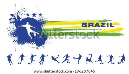 grunge brazil soccer banner