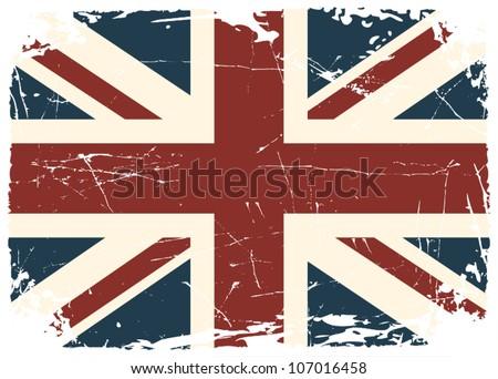 Grunge British flag.