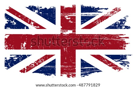 grunge british flag.vector...