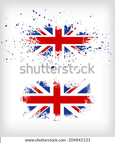 grunge british ink splattered