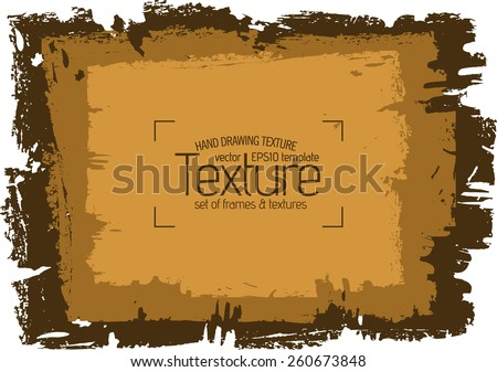 stock-vector-grunge-brown-texture-abstract-stock-vector-template-easy-to-use