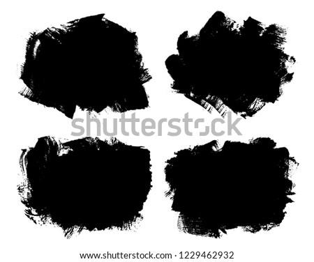 Grunge brush stroke backgrounds.Set of grunge banners. #1229462932