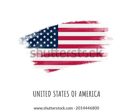 Grunge brush stroke flag of USA.