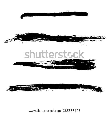 Grunge Brush Stroke . Vector Brush Stroke . Distressed Brush Stroke . Black Brush Stroke . Modern Textured Brush Stroke . Dry Brush Stroke . set