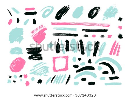 Grunge Brush Stroke . Vector Brush Stroke . Distressed Brush Stroke . Black Brush Stroke . Modern Textured Brush Stroke . Dry Brush Stroke . set