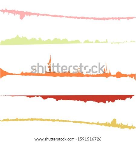 Grunge Brush Stroke . Vector Brush Stroke . Distressed Brush Stroke .Modern Textured Brush Stroke.