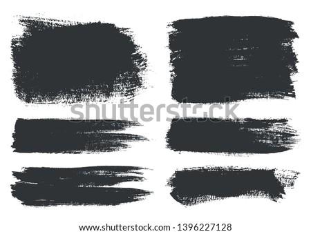 Grunge brush strokes.Abstract brush stroke banners.
