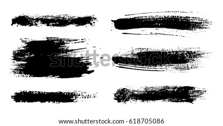 Grunge brush strokes collection. Hand painted brushes.