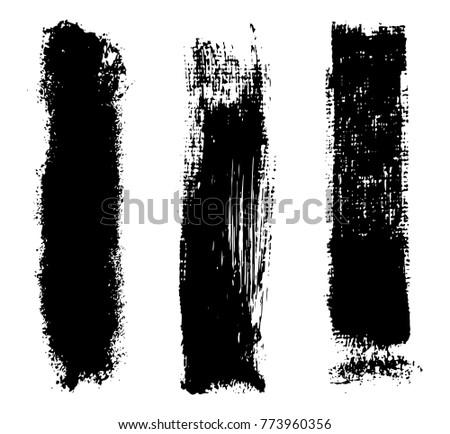 Grunge brush strokes.Vector brush strokes.