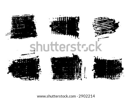 Grunge Brushes for Photoshop and raster software stock photo