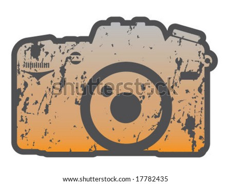camera logo vector. stock vector : Grunge Camera