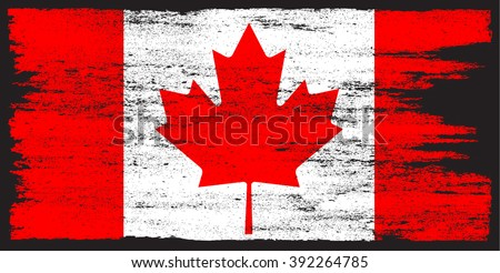 grunge canada flagvector