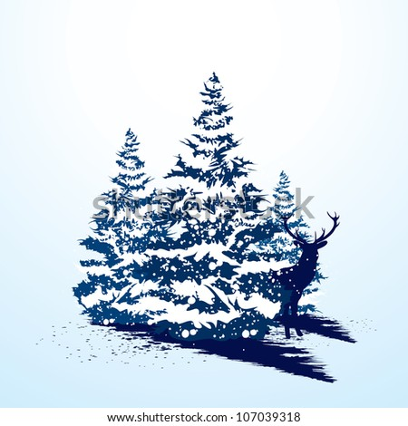 Grunge christmas card - stock vector