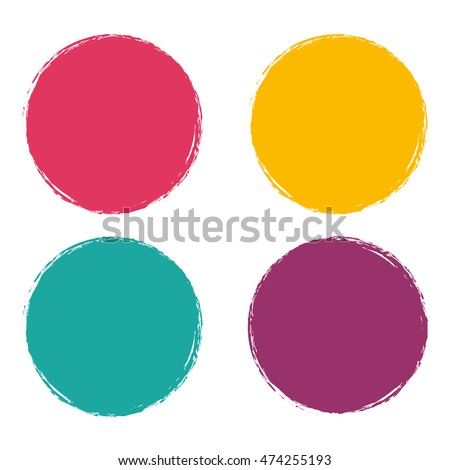 Grunge circle Abstract logo on white background Design. Vector illustration eps 10.