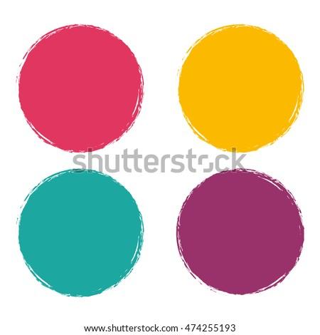 Grunge circle Abstract logo on white background Design. Vector illustration eps 10.