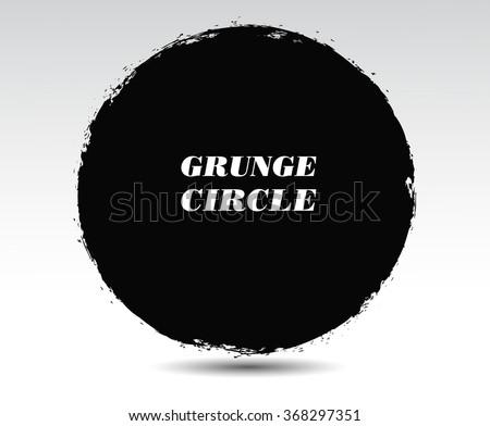 Grunge circle.Grunge round frame.Vector illustration.