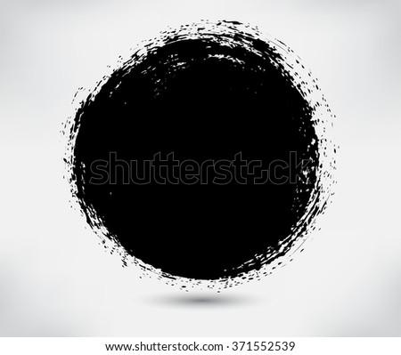 Grunge circle.Grunge round frame.Vector illustration. #371552539