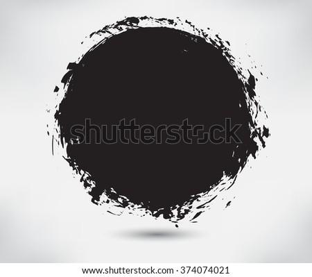 Grunge circle.Grunge round frame.Vector illustration. #374074021