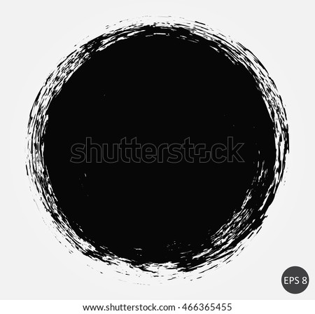 Grunge circle.round shape.Vector template. #466365455