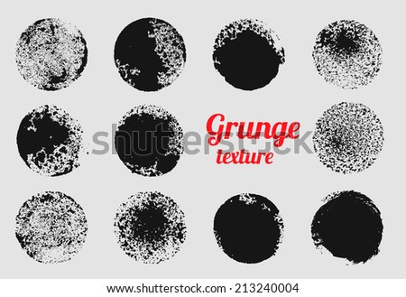 Grunge Circle Vector Element Set Stamp Stain Texture