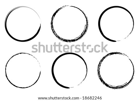 grunge circles for coffee or black paint