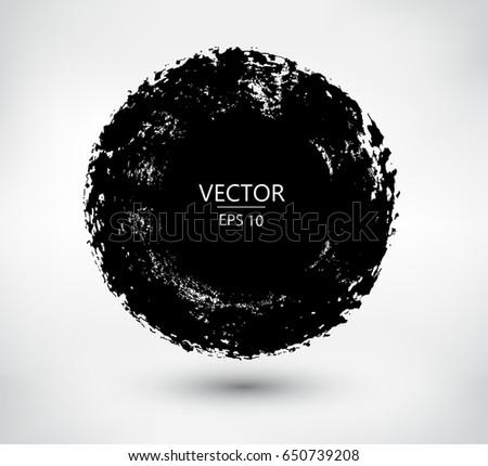 Grunge circles,round frames. Vector grunge banners. #650739208