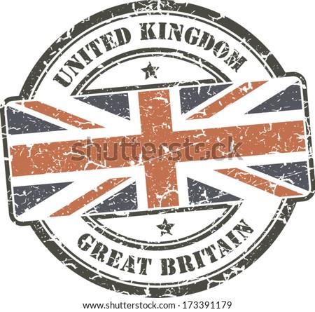 grunge circular stamp with