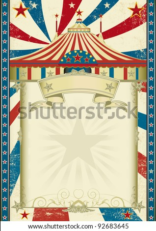 Grunge circus. A circus background with a big top