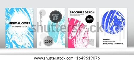 Grunge Cover Vector Design. Distressed Hand Painted Business Magazine. Trendy Cover Set. Liquid Foam Wallpaper. Fluid Soap Texture. Soap Textured Corporate Identity Set. Cool Simple Flyer Design.