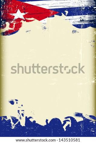 grunge cuban flag a poster