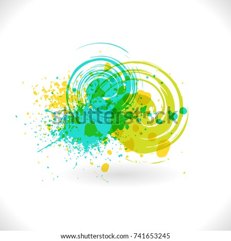 grunge curl vector abstract