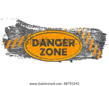 grunge danger zone banner