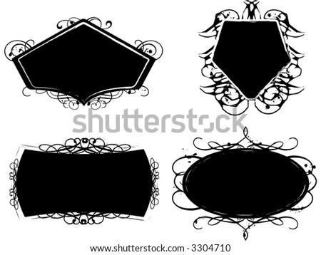 Grunge design elements ready for your text. - stock vector