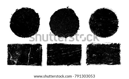 Grunge design elements.Vector grunge stamps,banners. #791303053