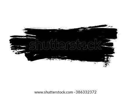 Grunge distressed paintbrush strokes background banner element illustration