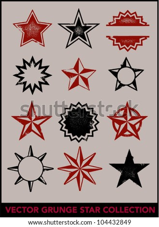 Grunge Distressed Star Collection