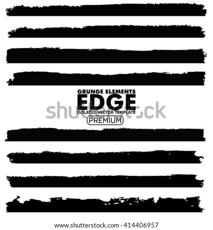 Grunge Edges set - isolated vector design elements