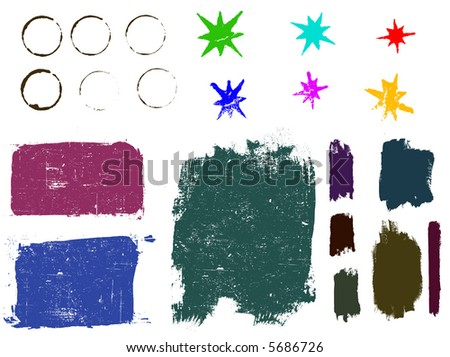 Grunge elements 2 - Highly Detailed vector grunge elements. Grouped and layered for ease of use and coloring - stock vector